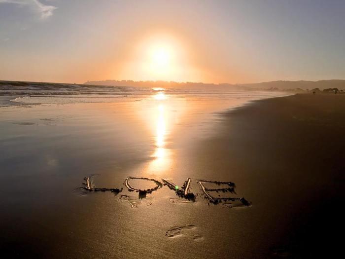 love stinson sunset