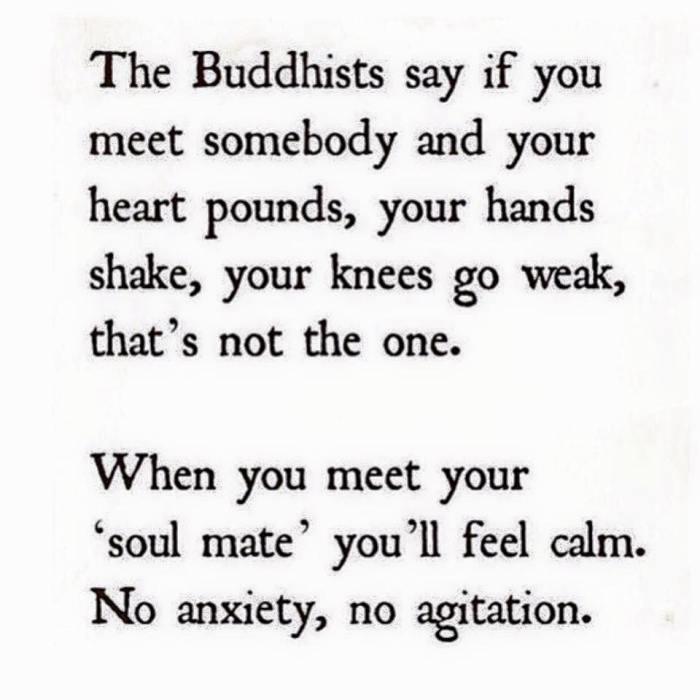 soul mate buddhists