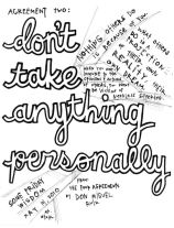 dont take anything personally